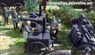 Diorama Les véhicules hippomobiles - Maquettes militaires