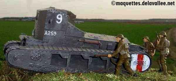 bataille d'Amiens 1918 - Tank Mk.A Whippet