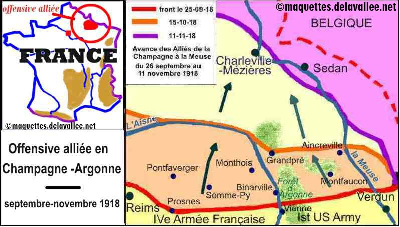 carte Champagne-Meuse 1918